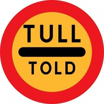 Tull Told Sign clip art