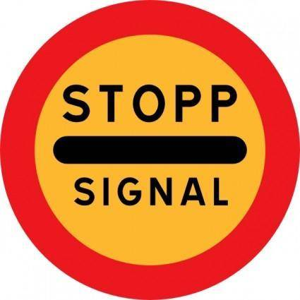 free vector Stopp Signal Sign clip art