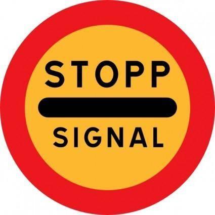 Stopp Signal Sign clip art