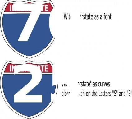 Interstate Highway Sign clip art