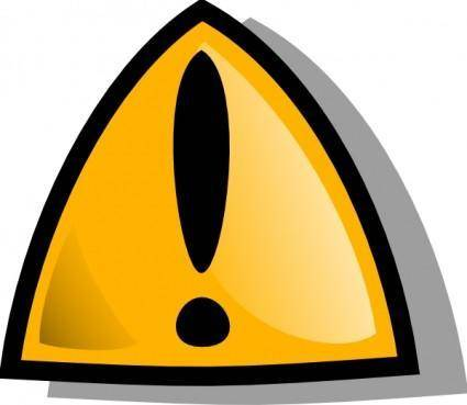 Warning Sign Orange Rounded clip art