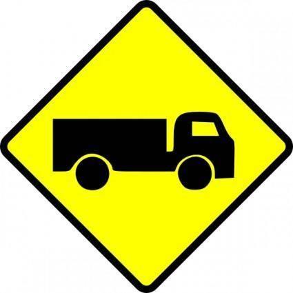 free vector Leomarc Caution Truck clip art