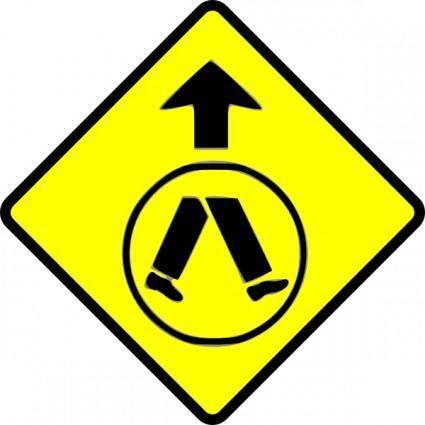 Pedestrians Crossing clip art