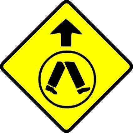 Pedestrians Crossing clip art
