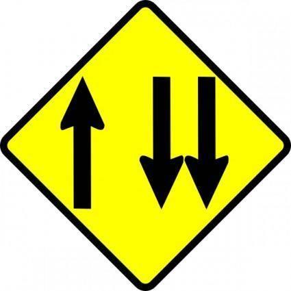 Caution Overtaking Lane clip art