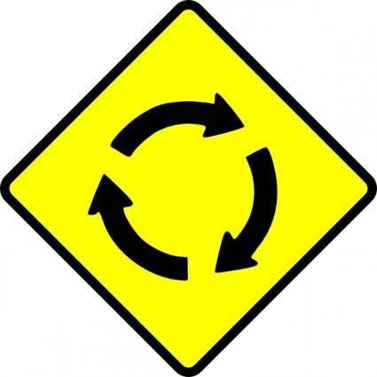 Caution Roundabout clip art