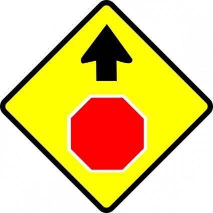 free vector Leomarc Caution Stop Sign clip art