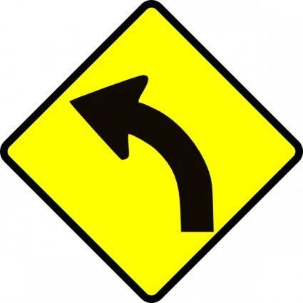 Curve In Road clip art