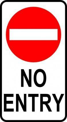 Leomarc Sign No Entry clip art