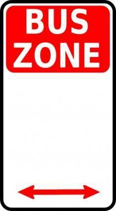 Leomarc Sign Bus Zone clip art