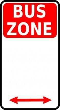 free vector Leomarc Sign Bus Zone clip art