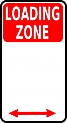 Loading Zone Sign clip art