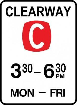 Leomarc Sign Clearway clip art