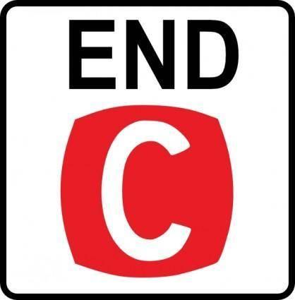 Road Ends clip art