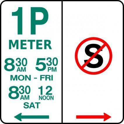 free vector Leomarc Sign Parking And No Standing clip art