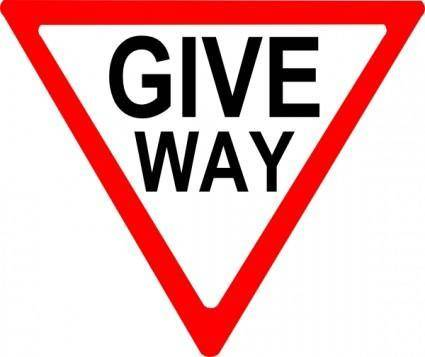 Give Way Sign clip art
