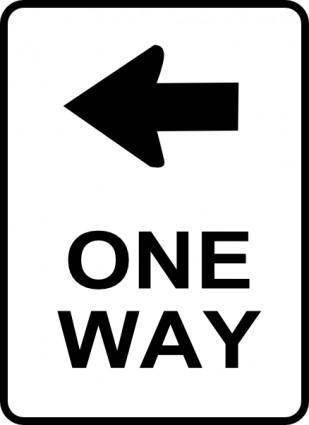 free vector One Way Traffic Sign clip art