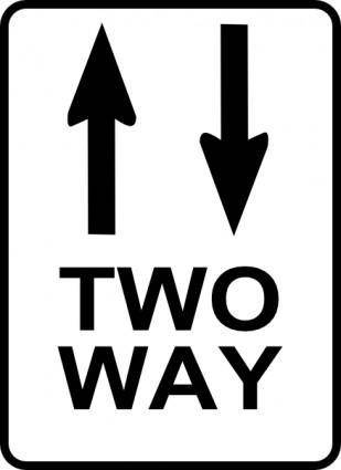 free vector Leomarc Sign Two Way clip art
