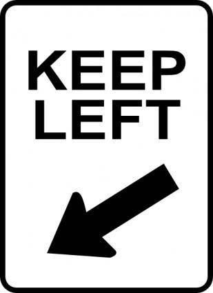 free vector Leomarc Sign Keep Left clip art