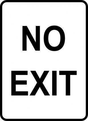 Leomarc Sign No Exit clip art