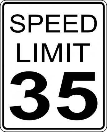 35mph Speed Limit Sign clip art