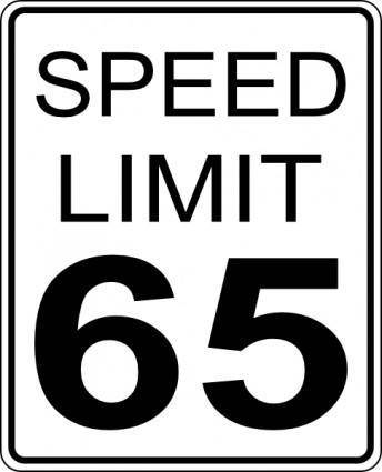 free vector Speed Limit Roadsign clip art