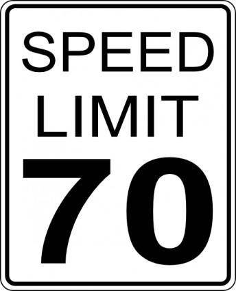 free vector Speed Limit clip art