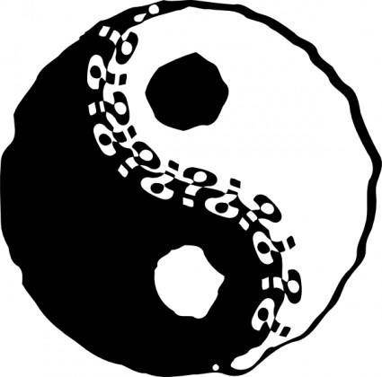 Jin-jang Yin-yang clip art