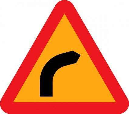 Dangerous Bend Bend To Right clip art