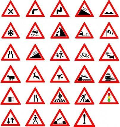 free vector Traffic Street Road Signs clip art