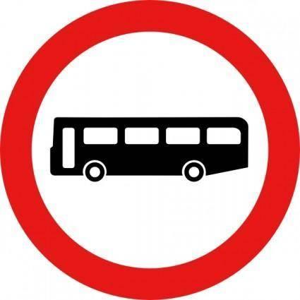Bus Road Sign clip art