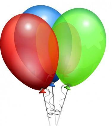 free vector Party Helium Balloons clip art