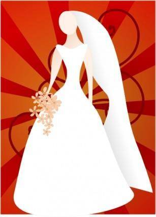 free vector Joelm Red Bride With Sunburst clip art