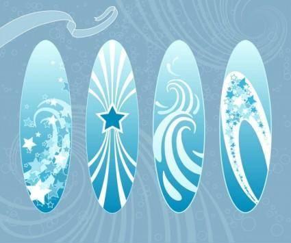 free vector Surfboards