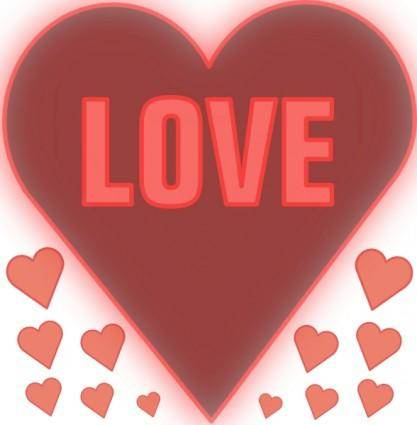 Love In A Heart clip art