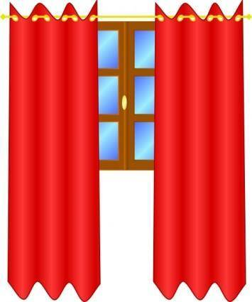 Window With Draperies clip art
