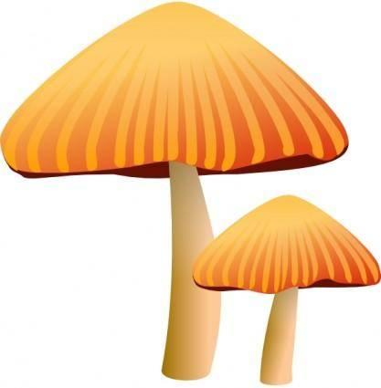 free vector Rockraikar Orange Mushroom clip art