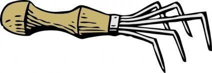 free vector Hand Rake clip art