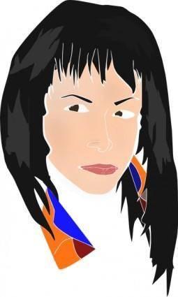 Sinvision Rostro Mujer clip art
