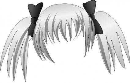 Secretlondon Manga Hair clip art