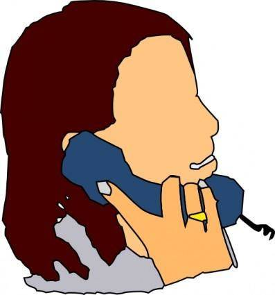 free vector Talking In The Phone clip art