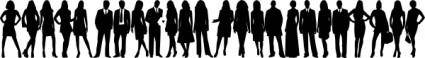 Group Silhouette clip art