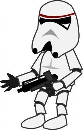 free vector Comic Characters Stormtrooper clip art