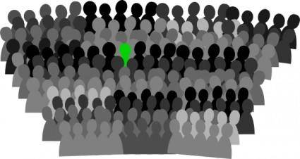 free vector Crowd clip art