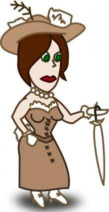 Comic Characters Lady clip art