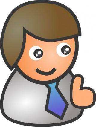 People Biz Male Smile clip art