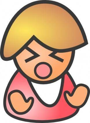 Angry Female clip art