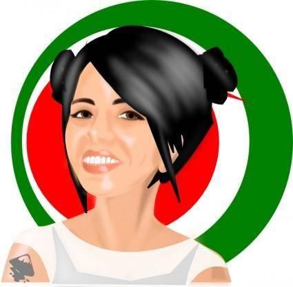 free vector Girl  clip art