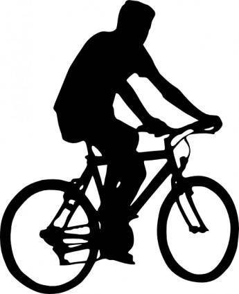 free vector Bicyclist Silhouette clip art