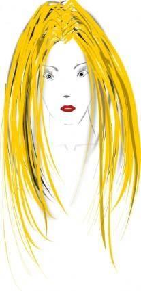 free vector Woman Face clip art